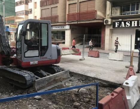 Las obras de renovación urbana de la Avenida de Santa Clara de Lorca beneficiarán a más de 90.000 m2 y contemplan una inversión superior a 1,8 millones de euros
