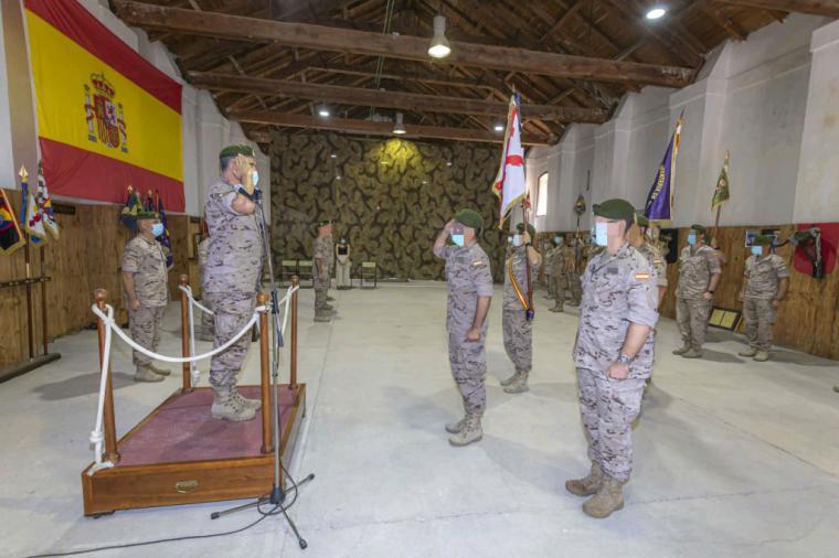 Acto de disolución y recibimiento del Grupo Táctico de Operaciones Especiales español en Irak
