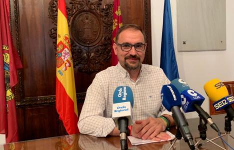 """Diego José Mateos: """"Vamos a continuar hasta el final para conseguir ese gobierno de cambio que los lorquinos nos han mandatado en las urnas"""""""