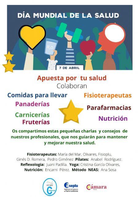 """La Concejalía de Comercio de Ayuntamiento de Puerto Lumbreras conmemora el Día Internacional de la Salud con la campaña """"apuesta por tu salud"""""""