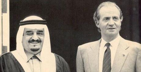 Juan Carlos I junto al príncipe Fahd Bin Abdulaziz Al Saud, de Arabia Saudí (archivo EFE)