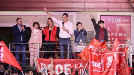 El PSOE, claro ganador de las elecciones, sigue teniendo la confianza mayoritaria de los españoles con casi siete millones de votos