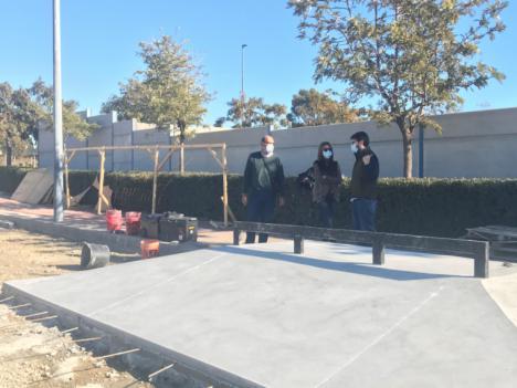 Las obras del skate park de Águilas entran su fase final