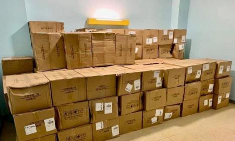 El Gobierno reparte más de 20 millones de unidades de material entre Comunidades