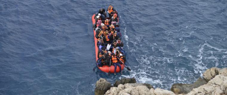 Llegada de pateras a la costa de Cartagena