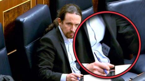 Iglesias se viste de 'Zara' en el Congreso tras acribillar durante años a Amancio Ortega
