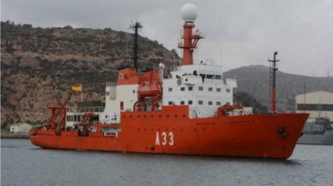 """El buque """"Hespérides"""" permanece en Las Palmas tras el foco de Covid19 detectado a bordo"""