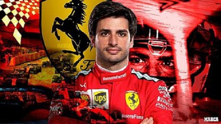Carlos Sainz, nuevo piloto de Ferrari en puesto de Vettel