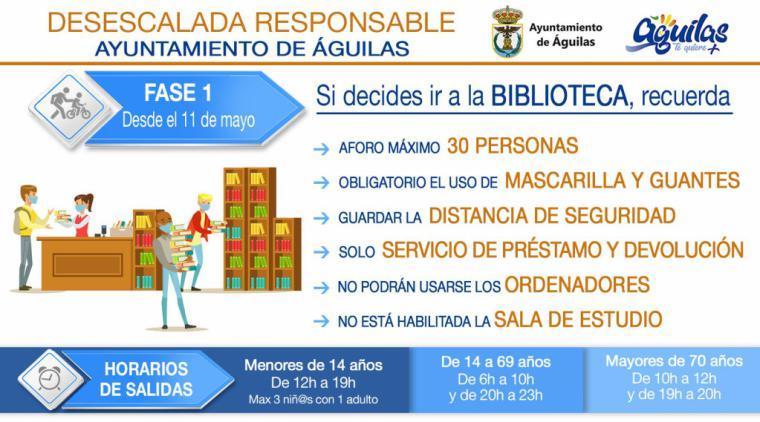 La biblioteca reabre sus puertas con servicio exclusivo de préstamo y devolución de libros