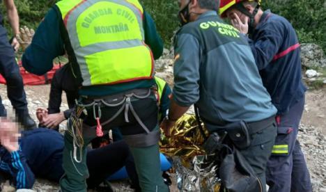 Una senderista accidentada en Santiago Pontones ha sido rescatada por la Guardia Civil