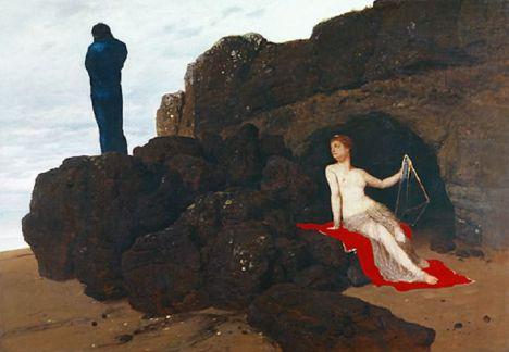 Ulises y Calipso, 1883. Arnold Böcklin.