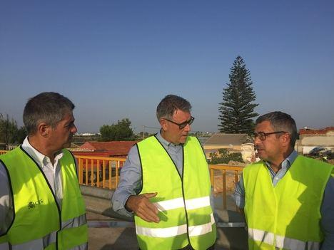 Hugo Morán visita la zona afectada en Murcia y Alicante por las lluvias torrenciales