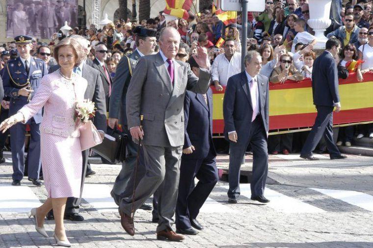 El Rey durante su viaje a Ceuta que tuvo lugar en noviembre de 2007. El Faro