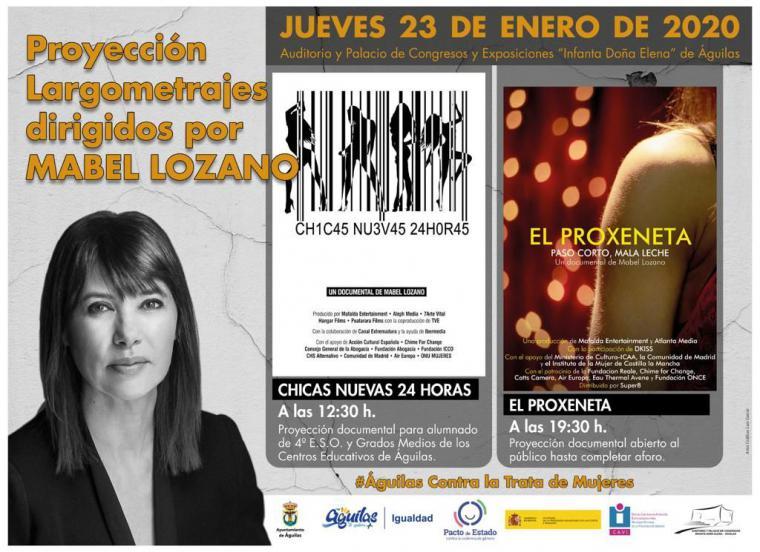 """La cineasta Mabel Lozano presenta en Águilas """"El proxeneta"""" y """"Chicas nuevas 24 horas"""" dentro de la campaña de sensibilización contra la trata de seres humanos"""
