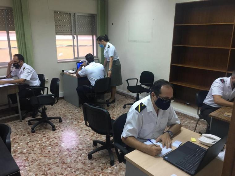 Los rastreadores de la Armada ya están apoyando a la Consejería de Salud de la Región de Murcia