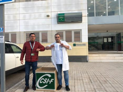 CSIF de Almería dona junto a Imprenta Gutenberg 500 pantallas de protección facial a la Dirección de Enfermería de Torrecárdenas
