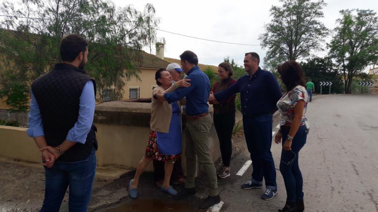 """Fulgencio Gil: """"los técnicos han concretado las soluciones a las inundaciones en Campillo y Torrecilla, y exigimos que cada administración cumpla su trabajo"""""""