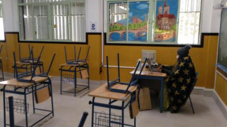 CSIF exige la actuación inmediata de los servicios de Prevención de Riesgos Laborales en los centros educativos ante las incidencias por frío intenso