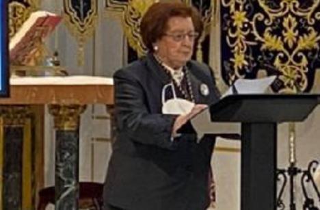 """María Dolores Huerta Gonzalo pregona """"con emoción"""" el inicio de una Semana Santa diferente en Puerto Lumbreras"""