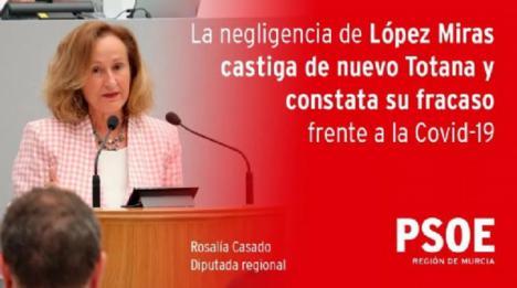 El PSOE exige al Gobierno regional que explique lo que no ha hecho bien para tener que confinar de nuevo Totana