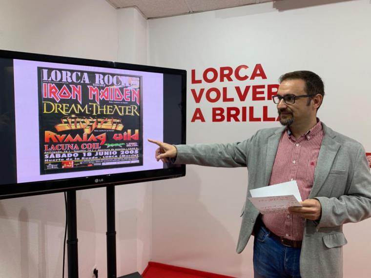 Diego José Mateos apuesta por recuperar la oferta de festivales musicales que encumbraron a Lorca como capital regional de la cultura