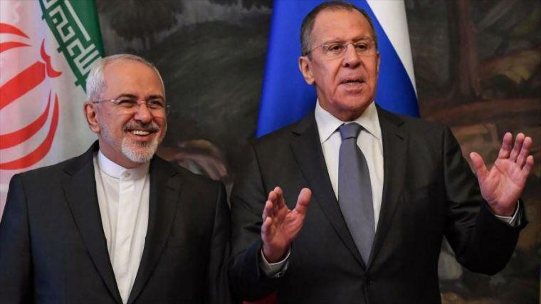 El ministro ruso de Asuntos Exteriores, Serguéi Lavrov, mantuvo  con su homólogo iraní, Mohamad Yavad Zarif.