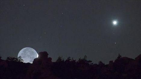 El planeta Venus desde la Tierra