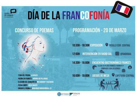Cartel de actividades en Almería