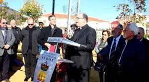 Inauguración del parque por Torrecillas y el obispo de Almería