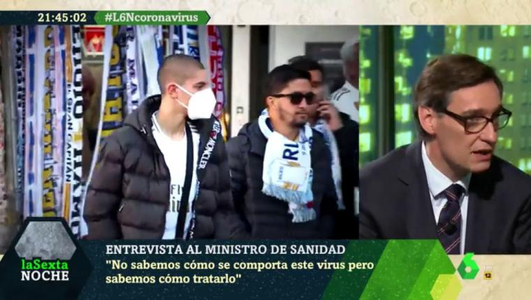 Coronavirús: El ministro de Sanidad recomienda que el Valencia - Atalanta y el Getafe - Inter de Milán, se jueguen a puerta cerrada