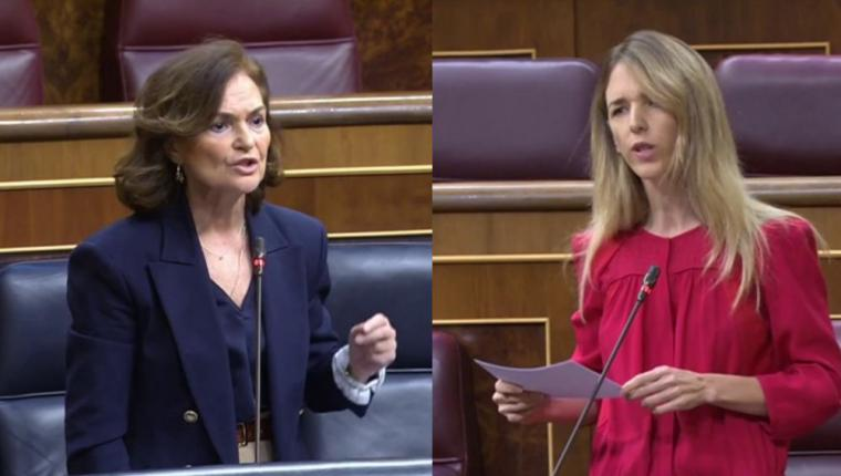 Lluvia de zascas entre la 'popular' Cayetana Álvarez de Toledo y la vicepresidenta Carmen Calvo