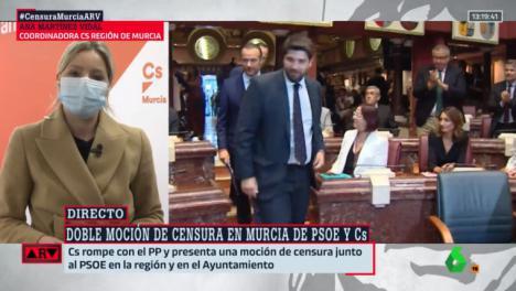 Crisis política en la Región de Murcia tras la moción de censura presentada por Ciudadanos y el PSOE