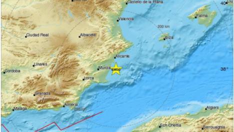 Terremoto de 4 grados con epicentro en el Cabo de Palos