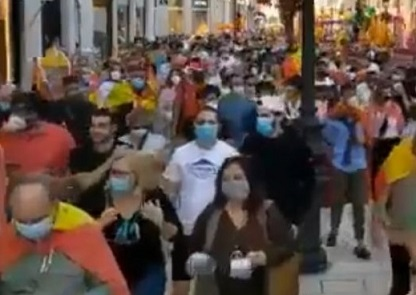 Agreden a un sindicalista de UGT en Málaga tras la manifestación de los ultraderechistas