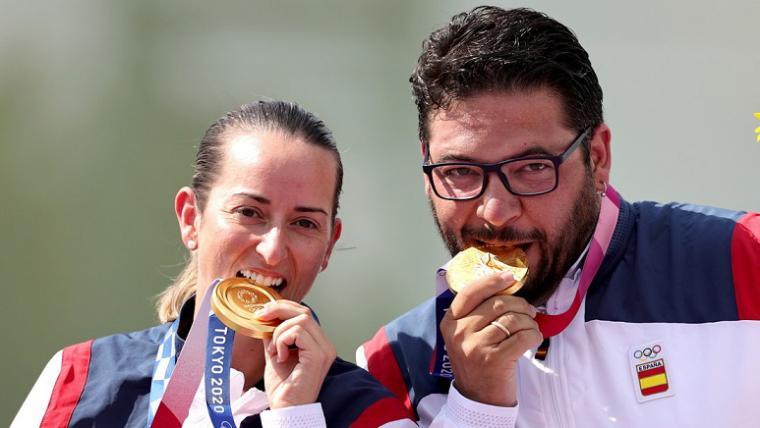 Alberto Fernández y Fátima Gálvez consiguen para España el primer oro en tiro olímpico