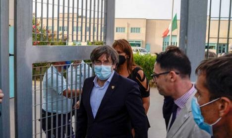 El juez deja en libertad a Puigdemont pero le impide abandonar Cerdeña