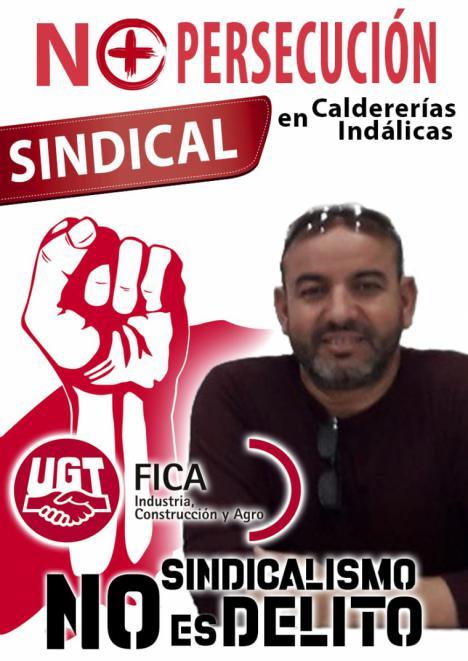 """El Secretario General de UGT-FICA Melilla Abderramán El Fahsi El Mokhtar """"GANA LAS ELECCIONES SINDICALES"""" en Caldererías Indálicas, S.L."""