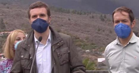 Casado se convierte en el hazmerreír de las redes tras su visita a la Palma
