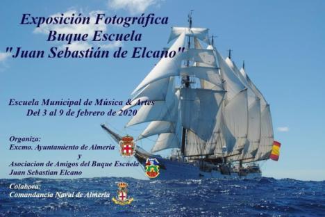 La Escuela Municipal de Música de Almería (EMMA) exhibe del 3 al 9 de febrero una muestra fotográfica sobre el buque escuela español Juan Sebastian Elcano