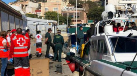 Interceptadas en aguas de Murcia cuatro embarcaciones con 53 inmigrantes a bordo