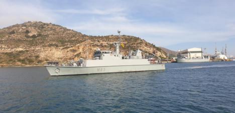"""El Cazaminas """"Tambre"""" (M-33) se integrará en la Agrupación Permanente de la OTAN en el Mediterráneo."""