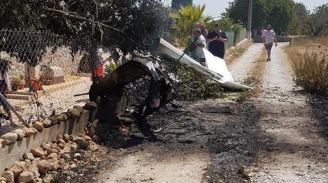 Cinco muertos en un accidente aéreo en Mallorca