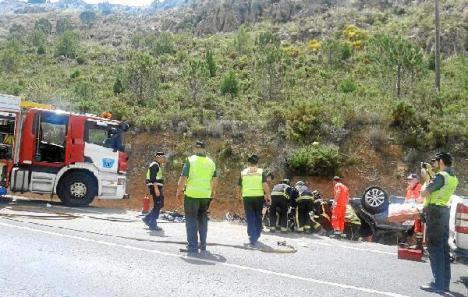 Accidente de tráfico en El Ejido y en Torrox.