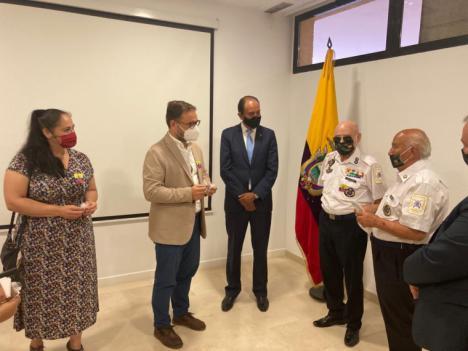 """El Alcalde de Lorca asiste a la conmemoración del """"10 de Agosto """", considerado el Primer Grito de la independencia de Ecuador y uno de los días cívicos más importantes del país andino"""