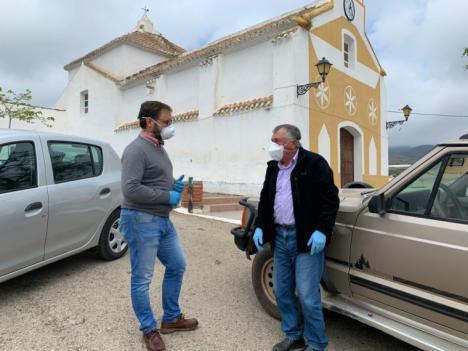 El Alcalde de Lorca visita las pedanías para conocer cómo viven los vecinos el confinamiento y recoger peticiones que faciliten la situación de emergencia sanitaria