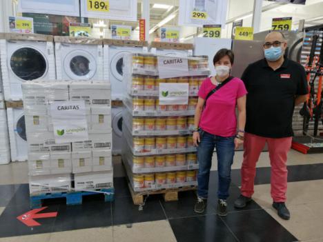 Servicios Sociales de Lorca adquiere alimentos básicos por valor de 18.000 euros para distribuirlos entre las familias más necesitadas del municipio a través del economato de Cáritas