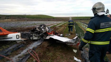 Una avioneta se estrella en Villamartín