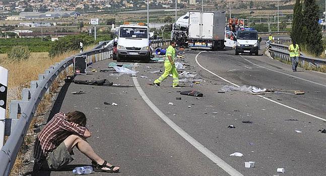 La N-340 a su paso por Castellón se convierte en la carretera más peligrosa de España.