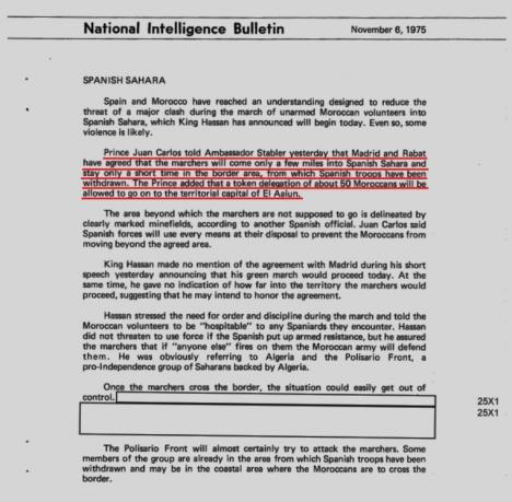 Documentos secretos que la CIA ha desclasificado desgranan episodios como los de la marcha verde y el papel que jugó Juan Carlos primero