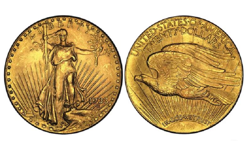 Una moneda de Águila Doble de 1933 alcanzó este martes los 18,9 millones de dólares en una subasta